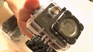 4K Action Camera First Look Review  CRAZY Cheap