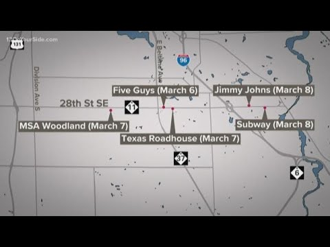 Health officials release possible COVID-19 exposure locations in ...