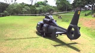 Start e decolagem helicoptero Pantera 2028 EB, exercito em Jaguariuna-SP 09/11/2013 HD