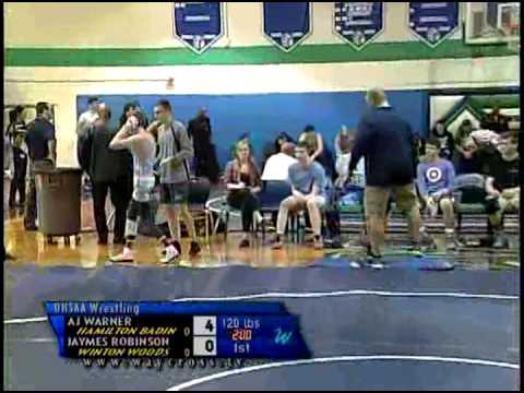 Badin and Fairborn at Winton Woods High School Wrestling of January 23, 2015