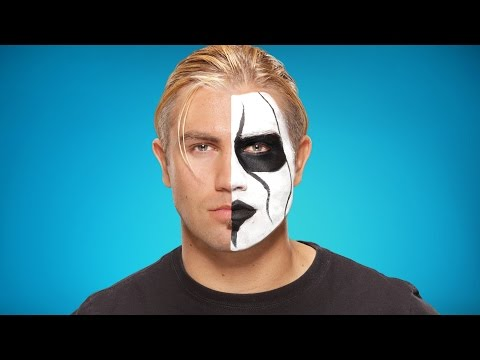 Tyler Breeze transforms into Sting: WWE Halloween Makeup Tutorial