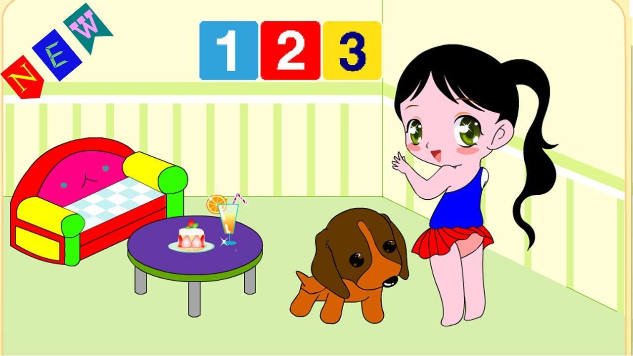Game tập tô màu cho bé || trò chơi màu sắc cho trẻ em 123 kids vp