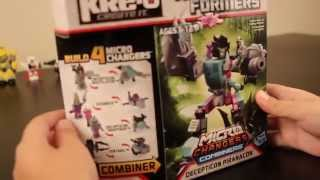 KRE-O Transformers Kids Review Micro-Changers Combiners Decepticon Piranacon