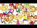 Ten Little Monkeys Jumping On The Bed   Monkey Nursery Rhymes   Kids Songs For Children