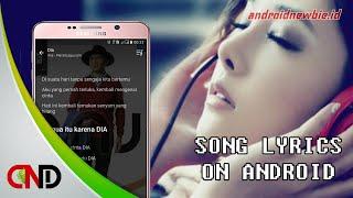 Cara mudah munculkan lirik lagu di Android