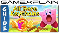 Kirby Triple Deluxe - All Rare Keychain Locations (3DS)