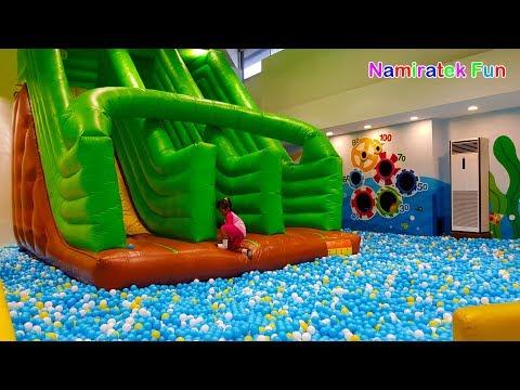 Mainan Anak Bermain Kids Zone Playground Perosotan Mandi Bola Trampolin Odong Odong
