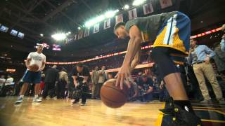 Stephen Curry Finals Phantom Raw: Pregame Dribble Drill