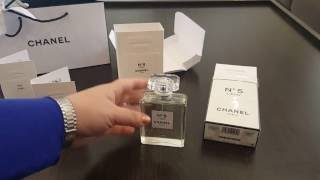 Chanel No 5 L'EAU perfume fragrance unboxing and first impressions!!