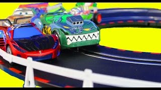 Marvel Ultimate Carrera Spider-man Race Track With Disney Pixar Cars Lightning McQueen