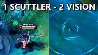 DOUBLE VISION Trick/Bug! Yorick W + Rift Scuttler!