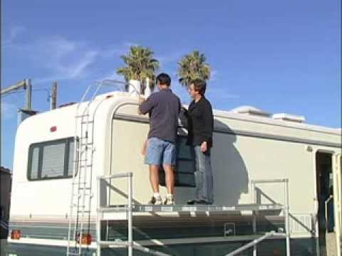 Rv How To Repairing A Rubber Roof Youtube