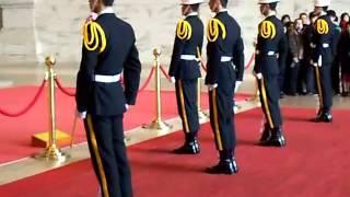 Changing of the guards at Chiang Kai-shek Memorial Hall in Taipei