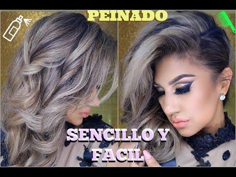Peinado GLAM sencillo y facil /👸 Party Hairstyle easy tutorial   auroramakeup