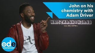 BlacKkKlansman: John David Washington on his chemistry with Adam Driver