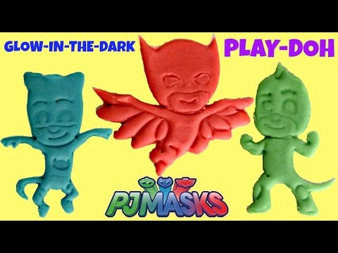 PJ MASKS Play-doh Cookie Cutters with Owlette, Gekko, Catboy | Toys Unlimited