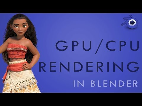 How to RENDER with GPU, CPU or BOTH in Blender - YouTube