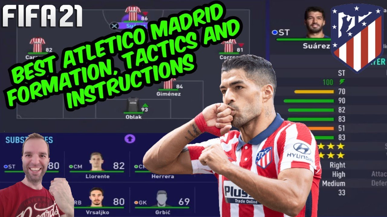 Best Atletico Madrid Formation Tactics And Instructions Fifa 21 Tutorial Youtube