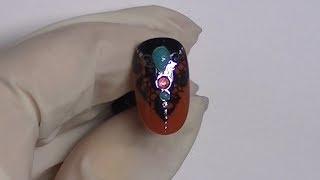 Master-class design of nails. Brooch with Gemty Gel.