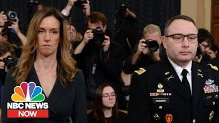 Highlights From Public Impeachment Hearing: Vindman, Williams   NBC News NOW