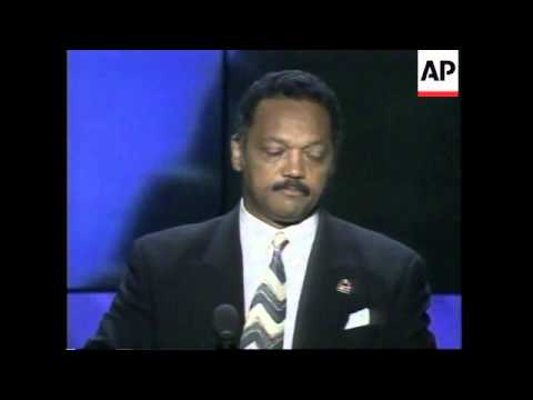 USA: CHICAGO: 1996 DEMOCRATIC PARTY CONVENTION: REV JESSE JACKSON