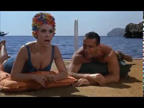 Gina Lollobrigida and Sean Connery Go Swimming