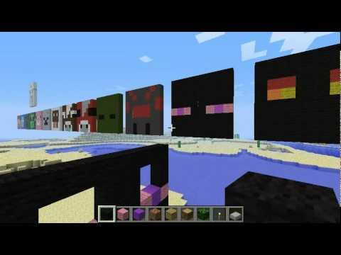 Minecraft Building Pixel Art 8x8 Mobs Youtube