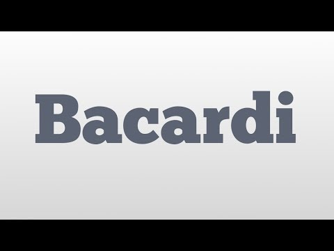 Bacardi meaning and pronunciation