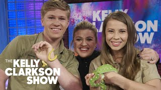 Bindi And Robert Irwin Introduce Kristin Chenoweth And Kelly Clarkson To Pythons