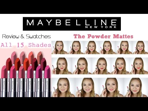 Maybelline POWDER MATTES   Review + Swatches ♡ Shen Asidor