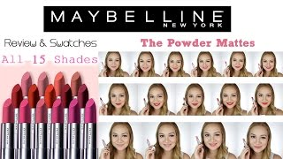 Maybelline POWDER MATTES Review Swatches Shen Asidor