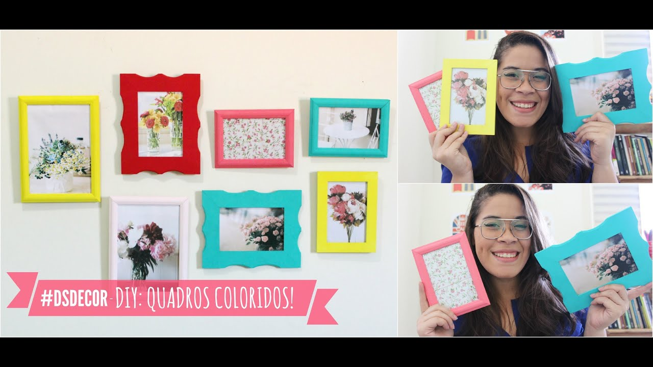 DSDECOR: Diy Quadros Coloridos Blog Di?rio da Suki - YouTube