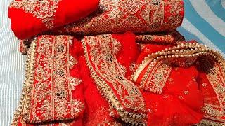 Bridal lehnga review   blood red bridal lehnga   Indian ethnic   bridal lehnga for Indian girls  