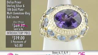 Dallas Prince Sterling Silver & 18K Multi Gemstone Ring at The Shopping Channel 616278