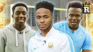 Raheem Sterling Vs KSI Vs Manny  - WOODWORK CHALLENGE | Rule'm Sports