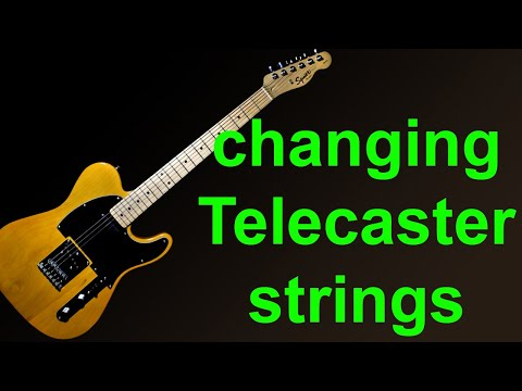 how to change strings on a fender stratocaster