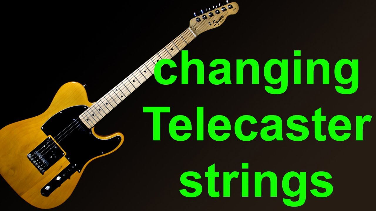 putting new strings on a fender squier telecaster how to change guitar strings youtube. Black Bedroom Furniture Sets. Home Design Ideas