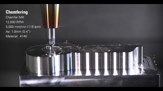Industry Leading 40cu in/min Material Removal Rate on a Makino PS105