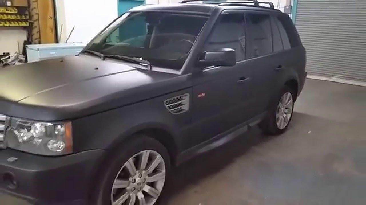 Range Rover Sport Matte Black Vinyl Wrap
