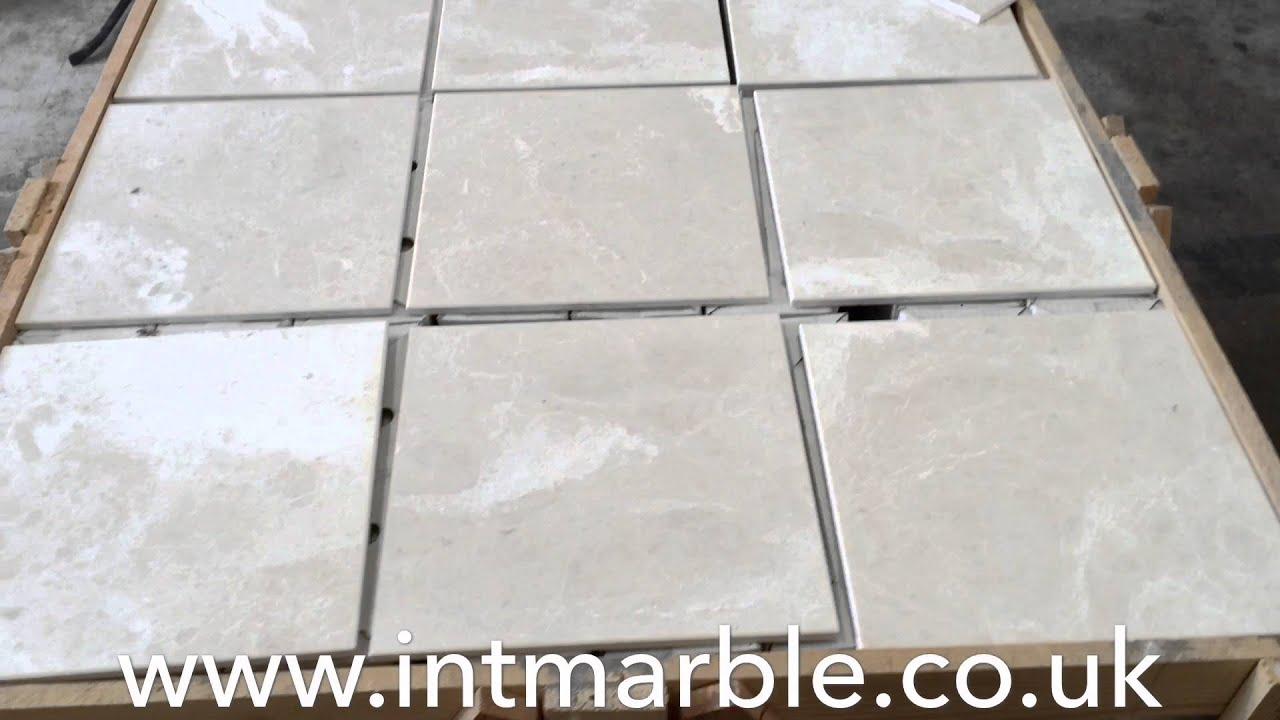 Marble Tiles Sofia Beige Honed Finish Marble Flooring 12x12 Youtube