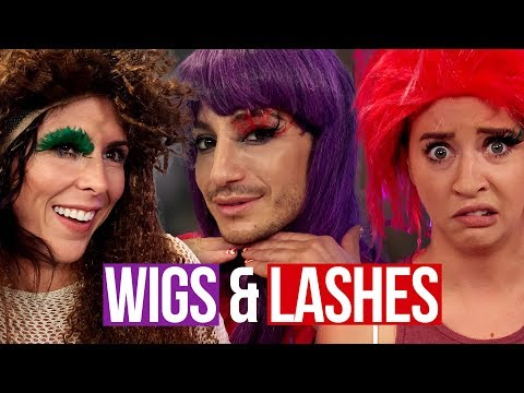 Crazy Eyelashes & Wigs w FRANKIE GRANDE! Beauty Break