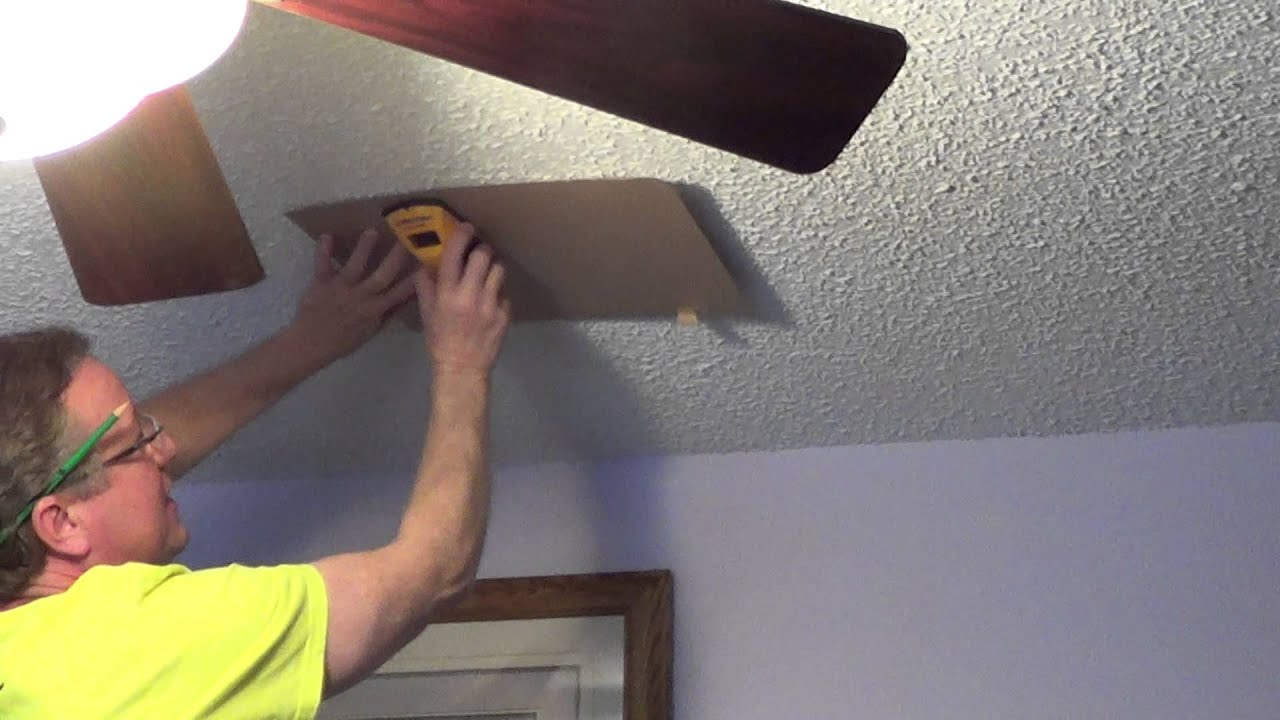 how to use a stud finder on a textured surface - youtube