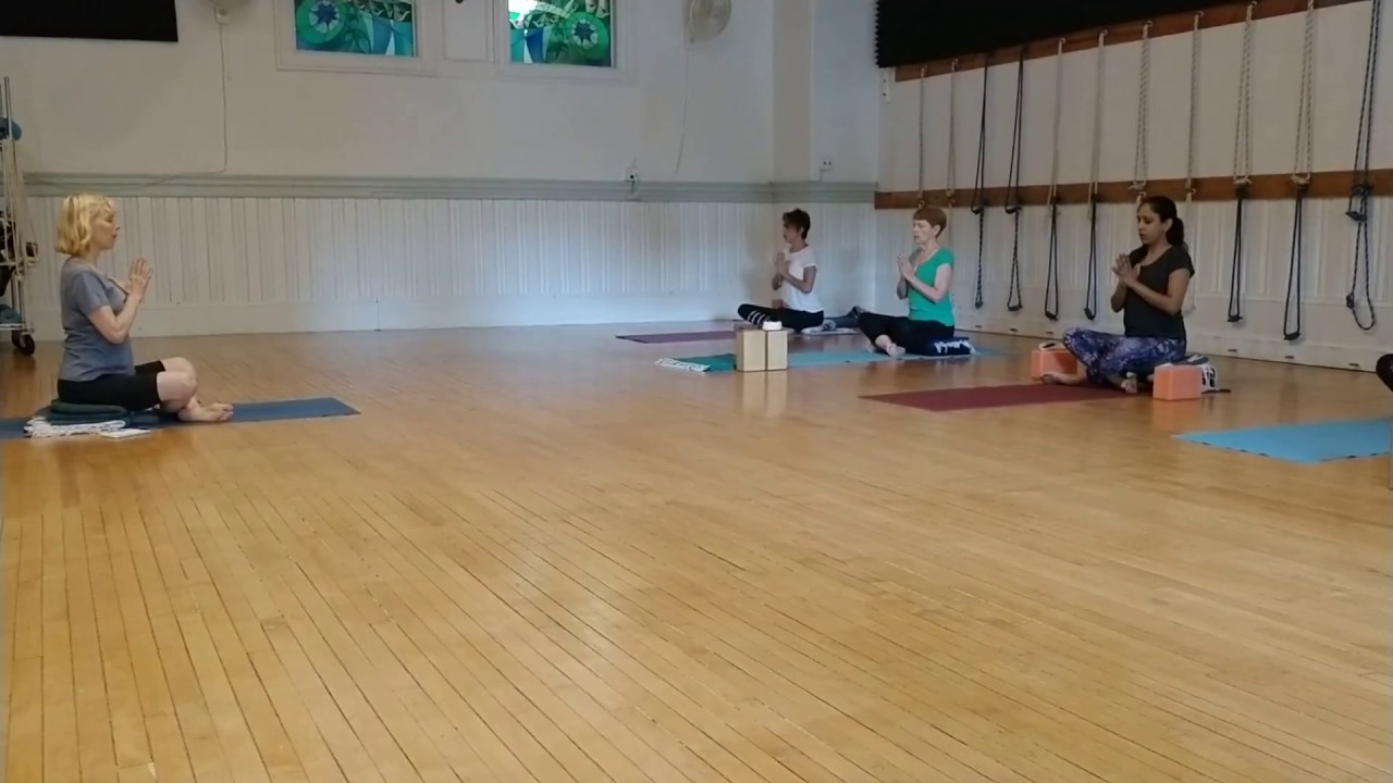 Patanjali Chant with Carol Wipf at the beginning of class
