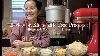 KitchenAid Food Processor Attachment Demo & Review