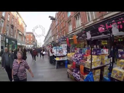Henry Street Dublin christmas market by day Full HD GOPR0356
