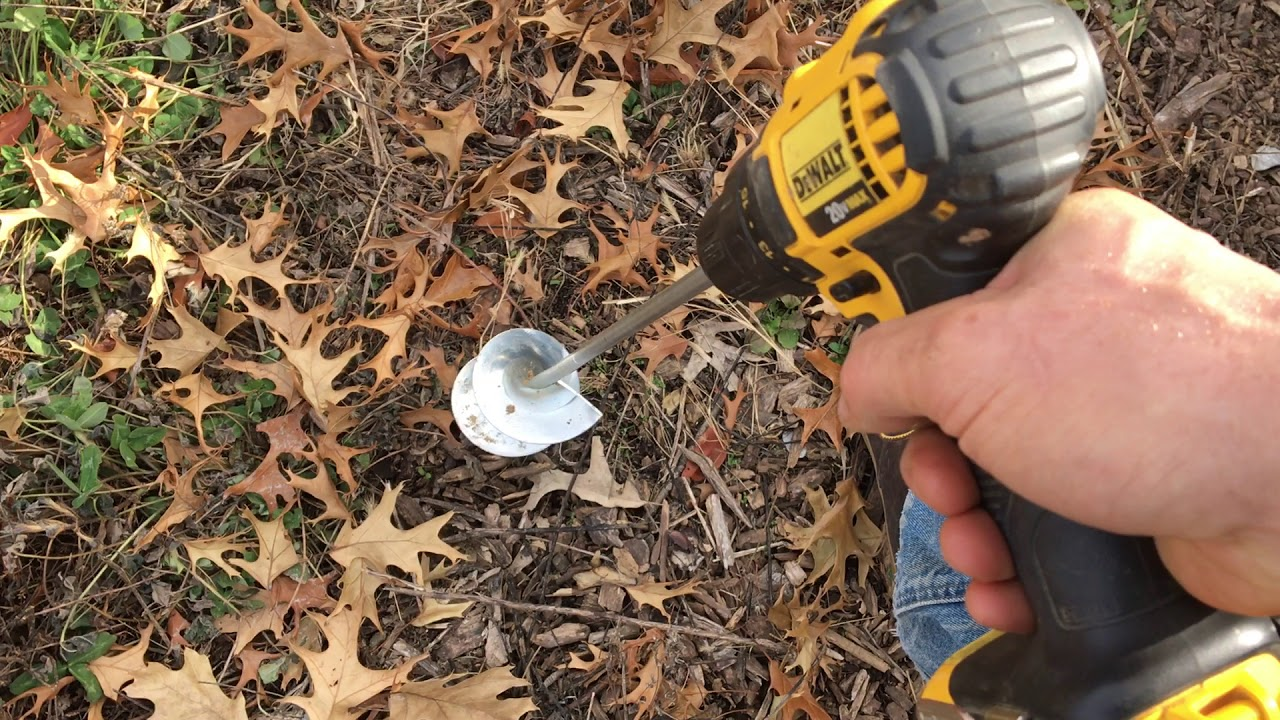 Plant Flower Bulbs Fast With A Bulb Drill Youtube