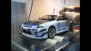 RC Dyno Skyline R32 GTR drift  turbo exhaust brembo brakes