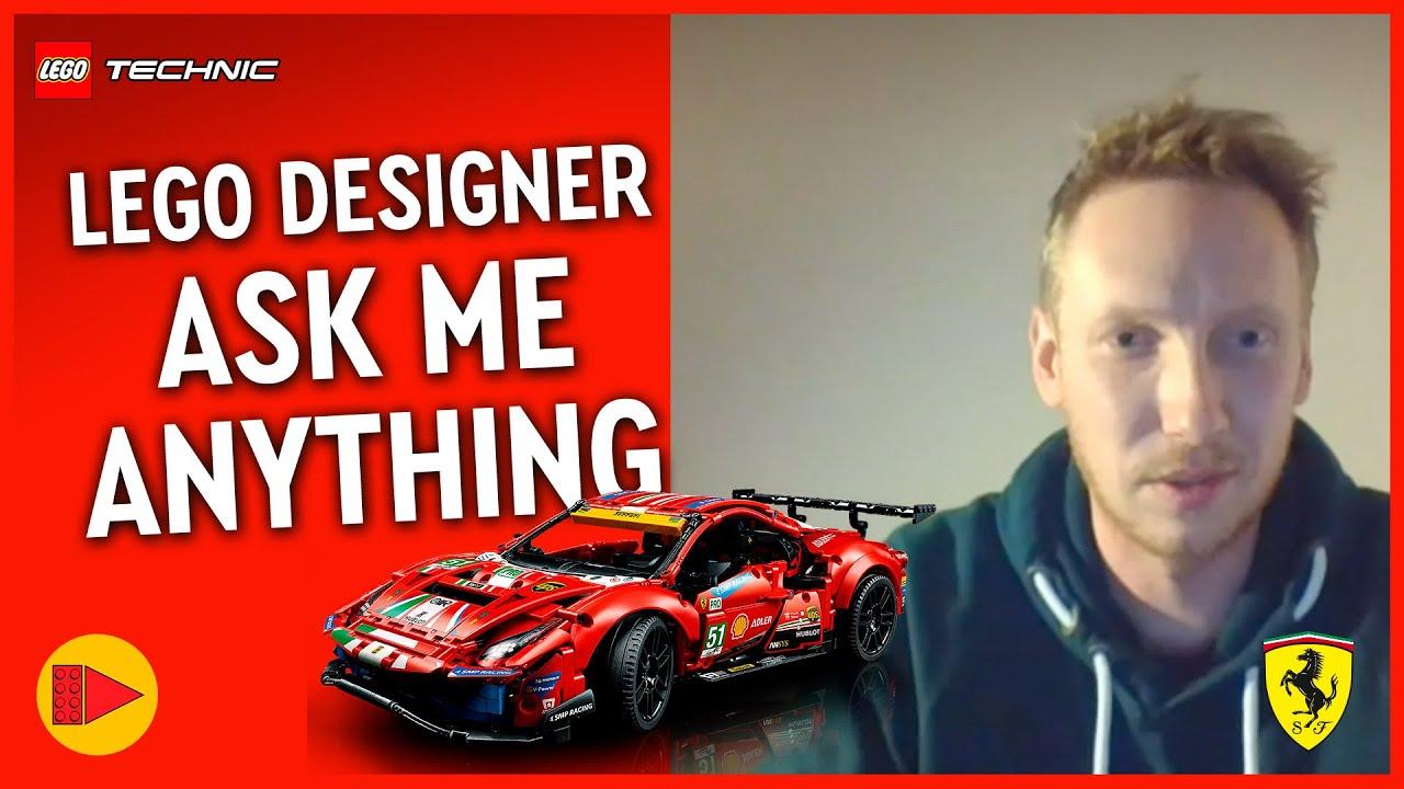 LEGO Technic Ferrari 488 GTE Designer AMA with Beyond the Brick