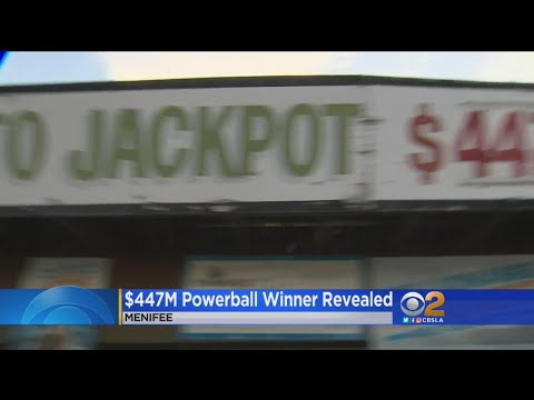 Winner Of $447 Million Powerball Jackpot Steps Forward -- Sort Of