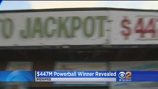 Winner Of $447 Million Powerball Jackpot Steps Forward -- Sort Of